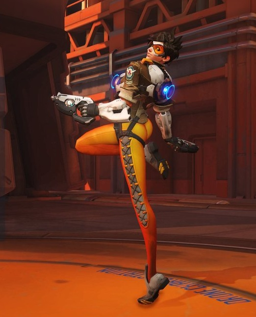 overwatch tracer over the shoulder victory pose 2